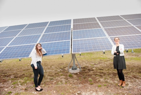 Fig 1 - PhD student Emily Prehoda worked with sociologist Chelsea Schelly to assess the technical and economic viability of military microgrids run on solar power.