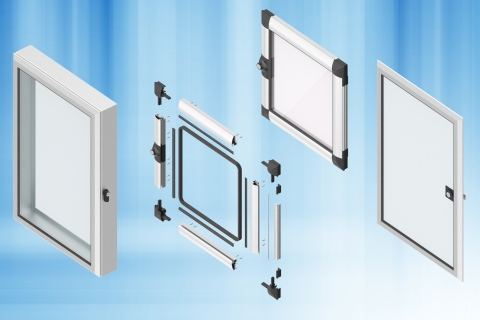 EMKA - Aluminium windows for vision, for mounting, for protection