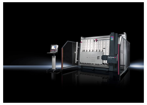 Rittal's Perforex BC machine for milling, drilling and punching.