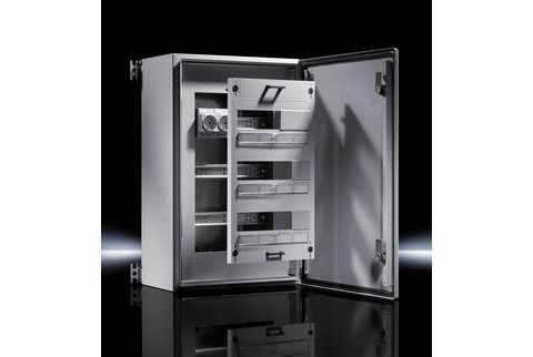 Rittal Wall Mounted Enclosures Accept Din Rail Devices